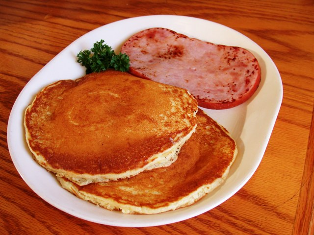 cornmeal pancakes ham slice cornmeal honey combine to give our ...